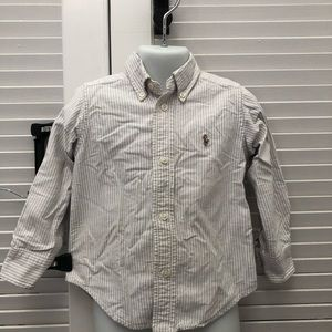 White and grey Ralph Lauren button down
